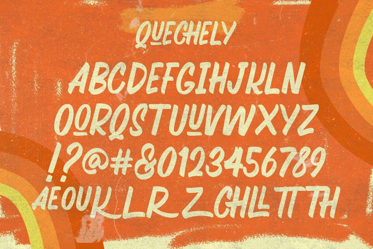 Quechely Free Font - script
