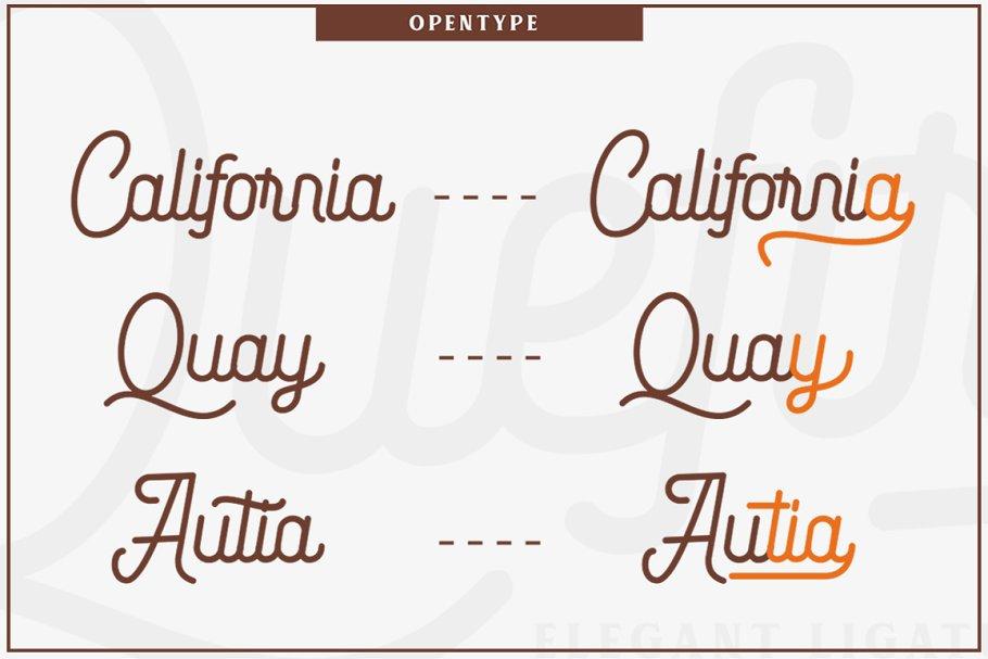 Quefira Free Font - script