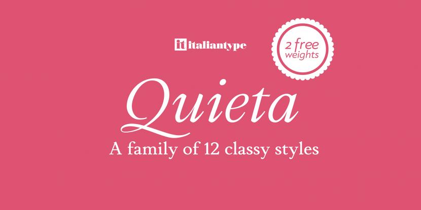 Quieta Free Font Family - serif