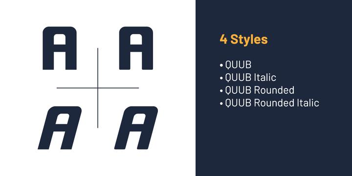 Quub Free Font - sans-serif