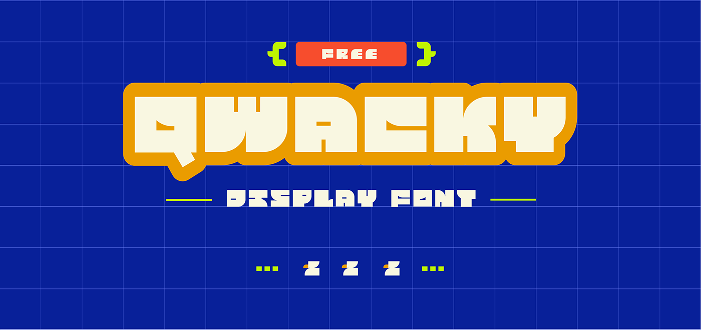 Qwacky Free Font - decorative-display