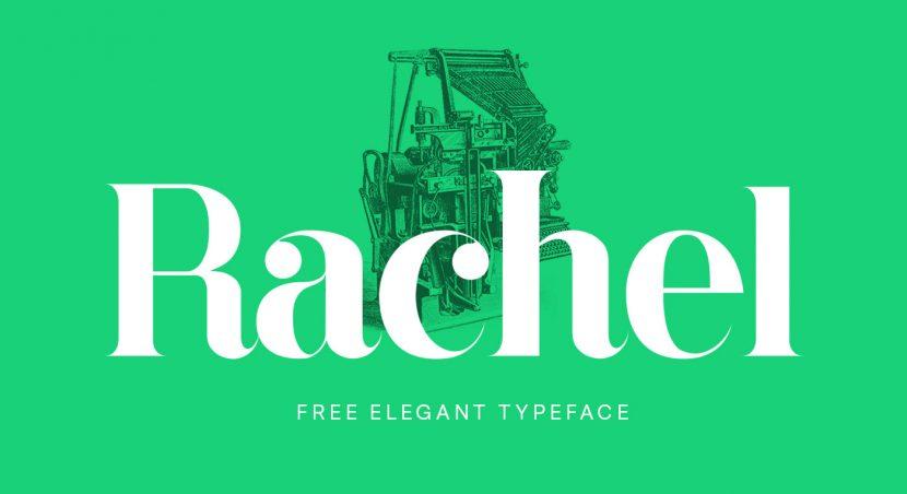 Rachel Free elegant typeface - serif
