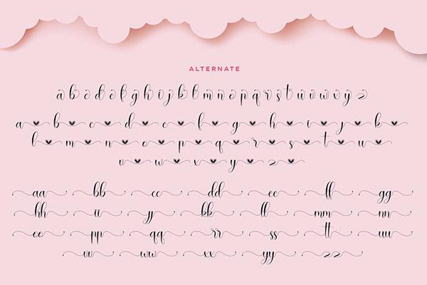 Rallisha Free Font - script
