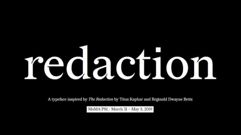 Redaction Free Font - serif
