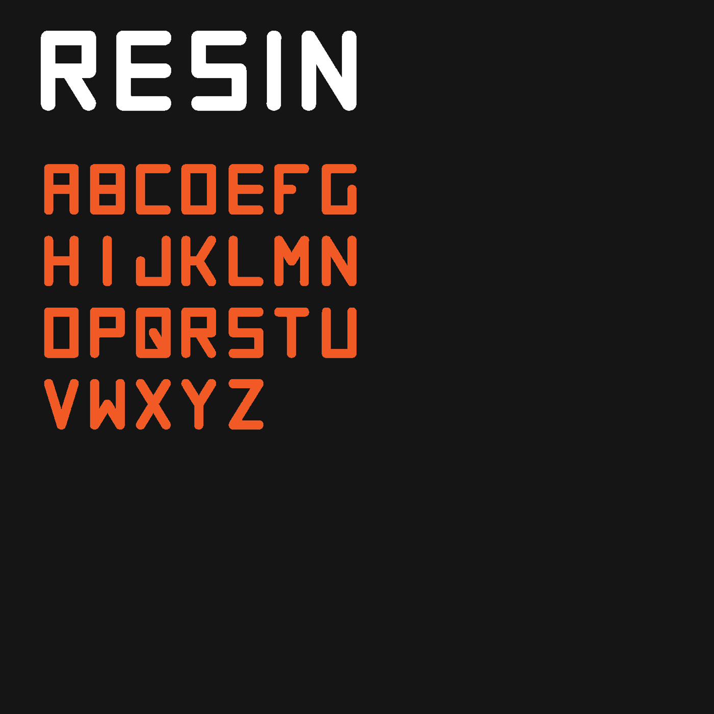 RESIN Free Font - sans-serif