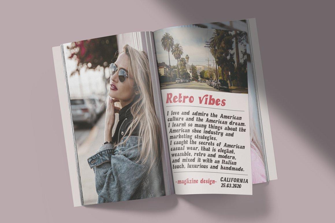Retro Vibes Free Font - sans-serif