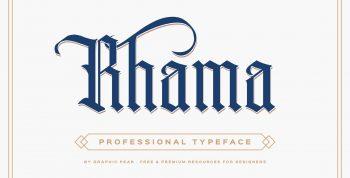 Rhama Free Gothic Typeface