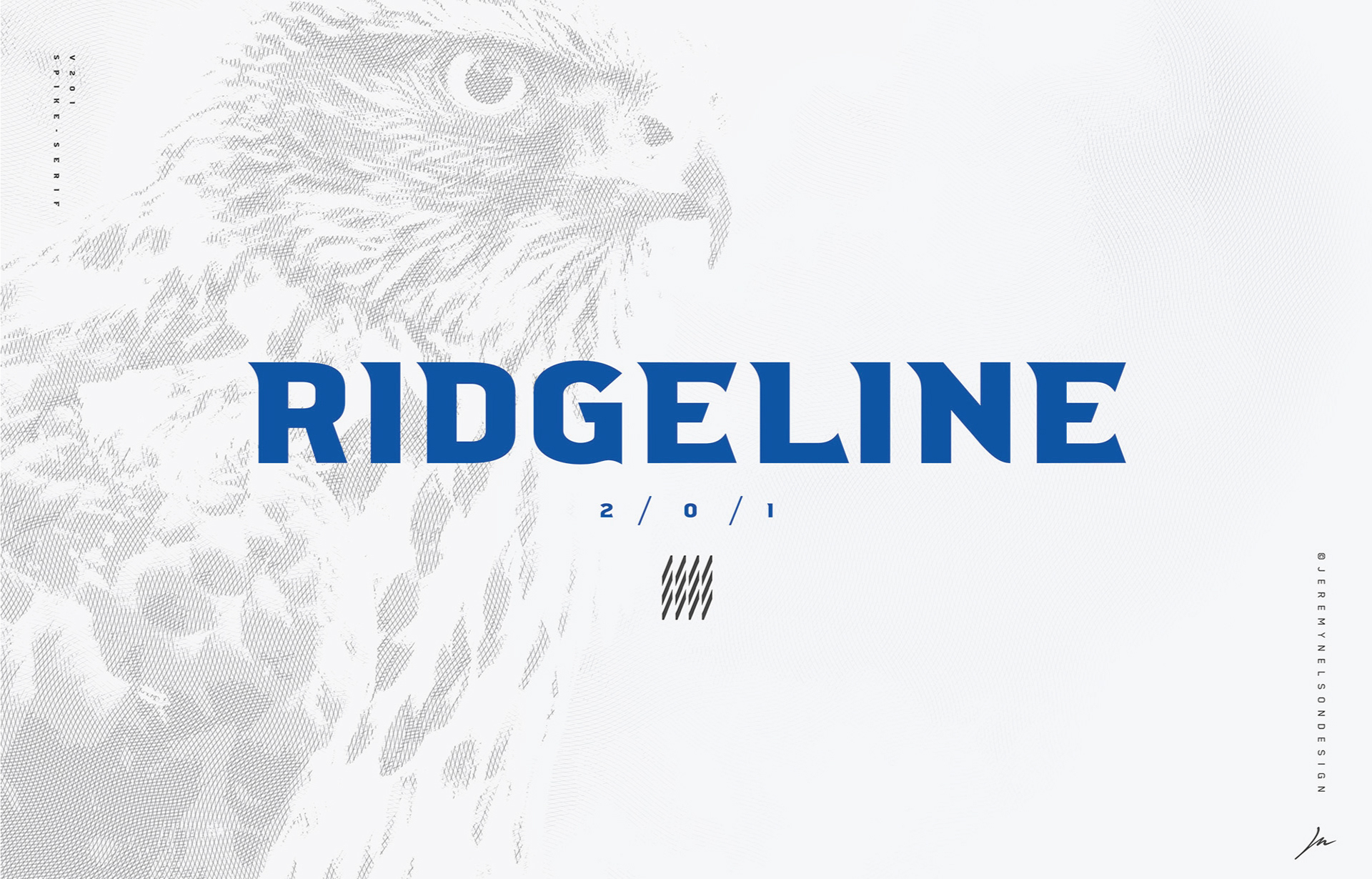 Ridgeline 201 Free Font - sans-serif
