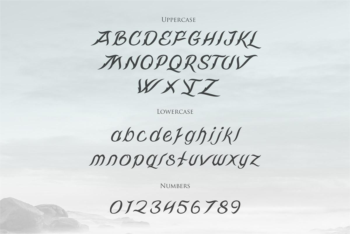 Rivandell Free Font - decorative-display