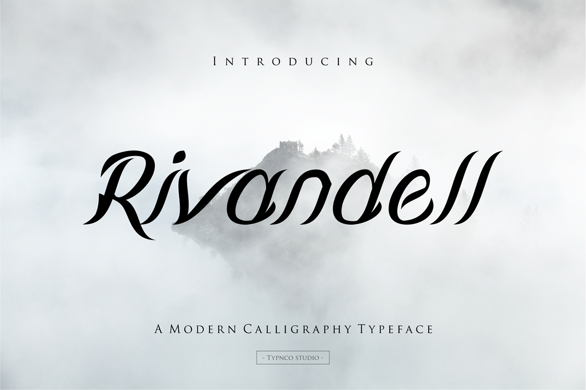 Rivandell Free Font - decorative-display