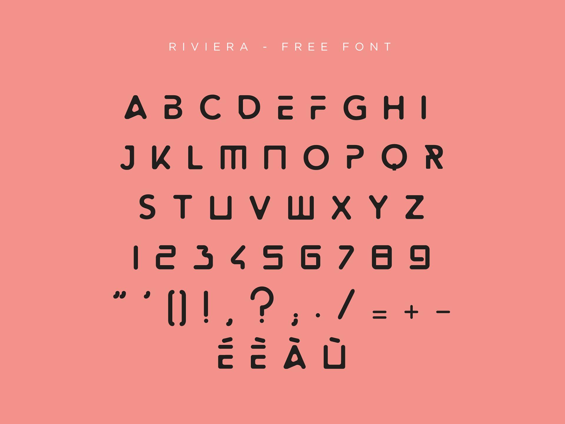 Riviera Free Font - decorative-display