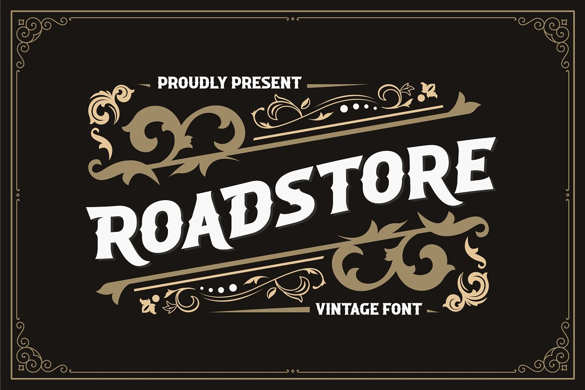 ROADSTORE Free Font - decorative-display