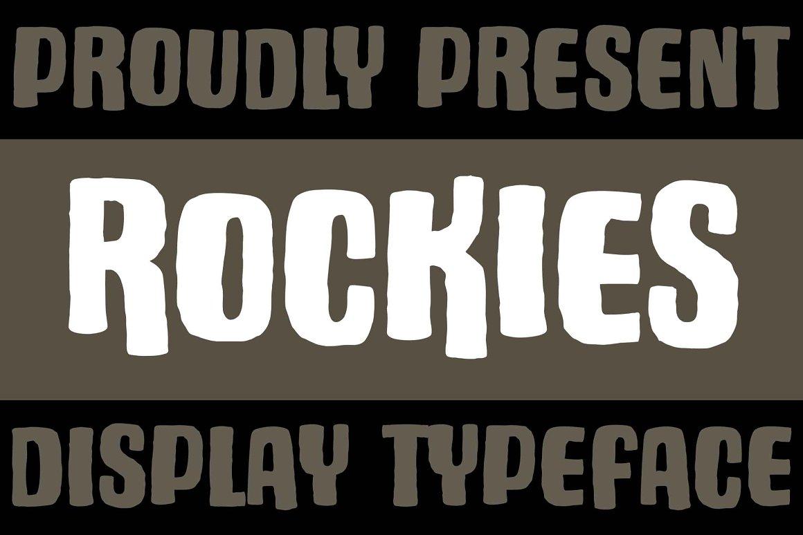 ROCKIES Free Font - decorative-display