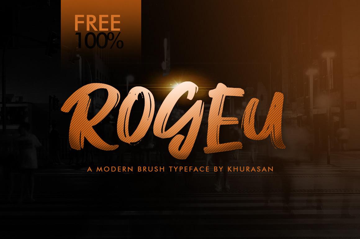 Rogeu Free Font - script