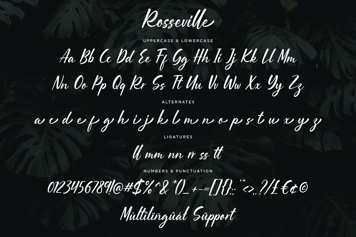 Rosseville Free Font - script