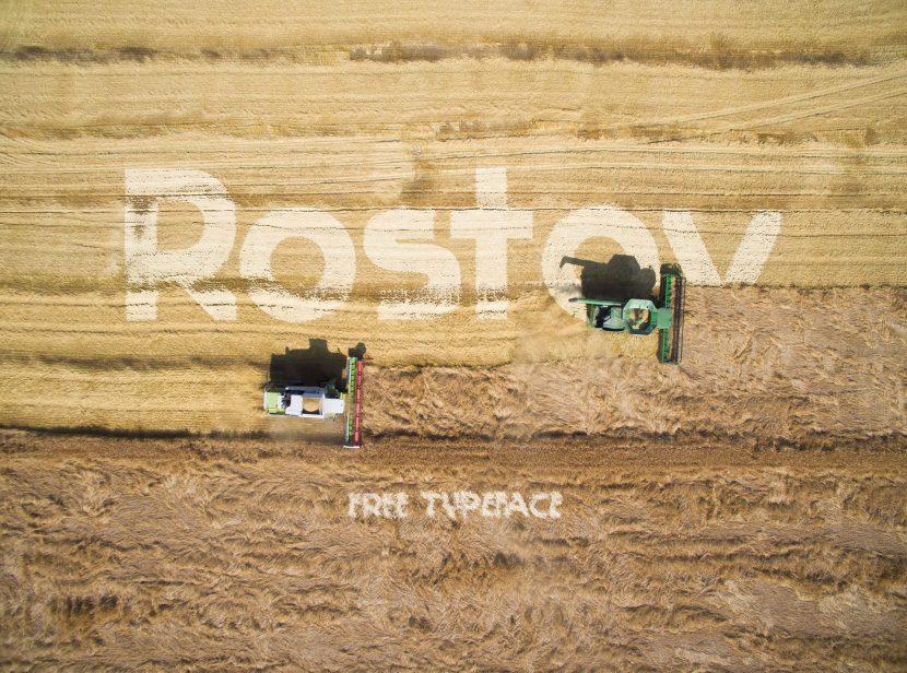 Rostov Free Font - sans-serif