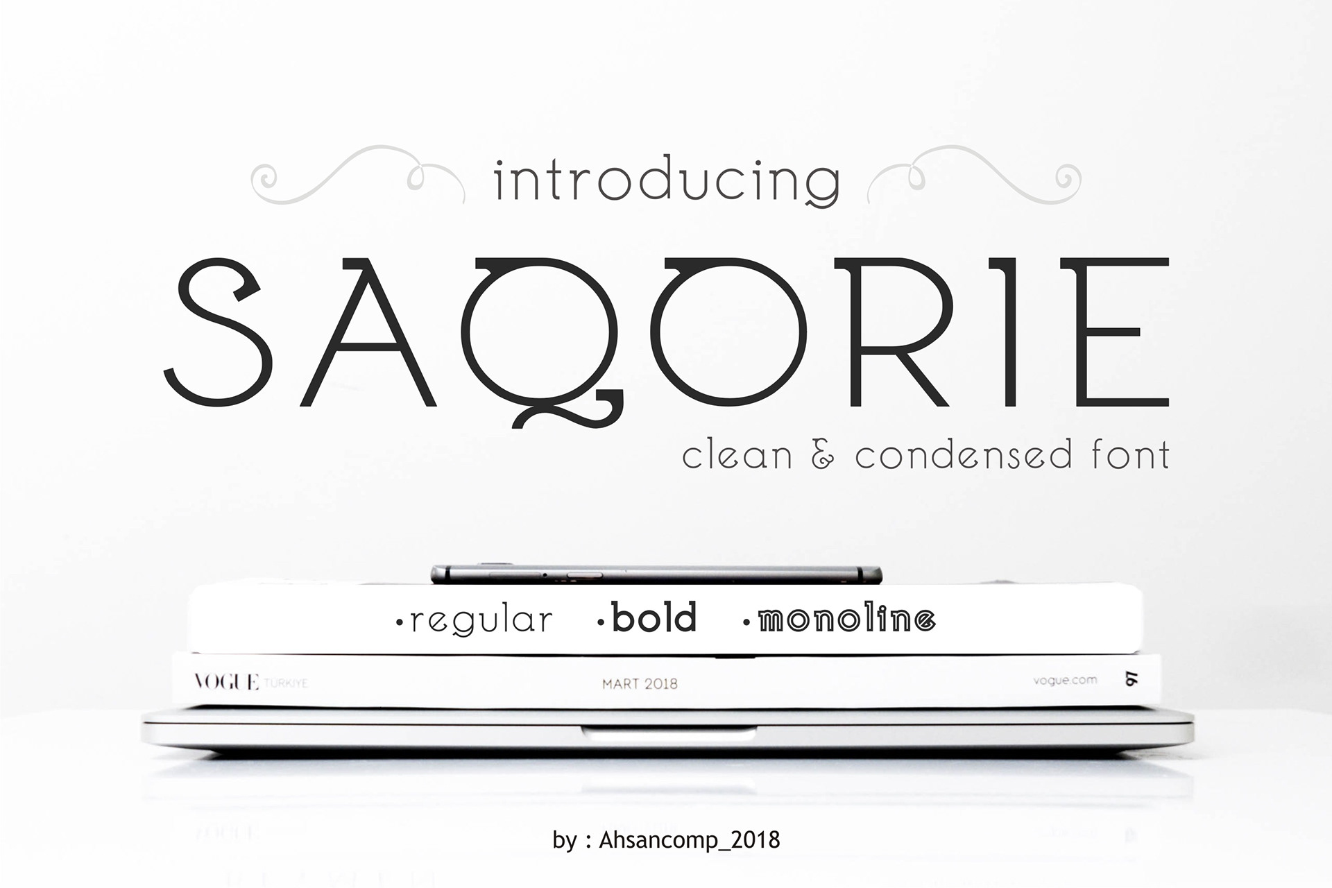 Saqorie Free Font - decorative-display