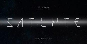 Satlyte Free Font - decorative