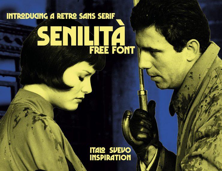 SENILITÀ Free Font - sans-serif