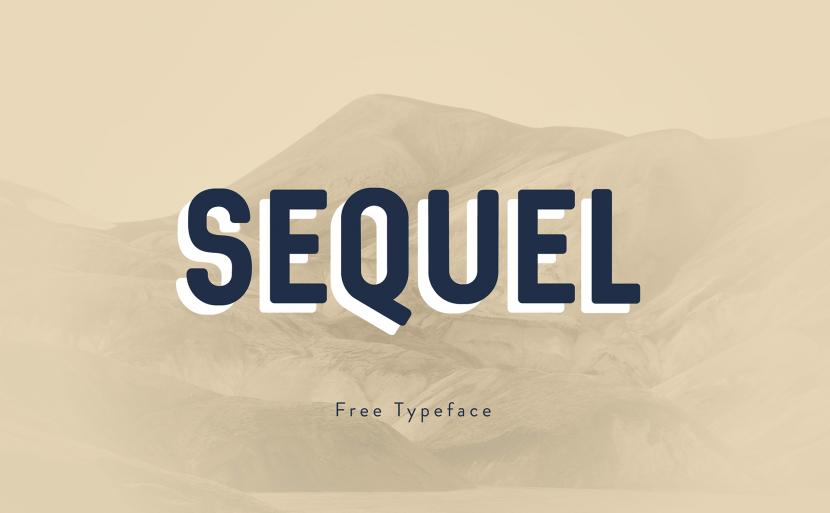 Sequel free font