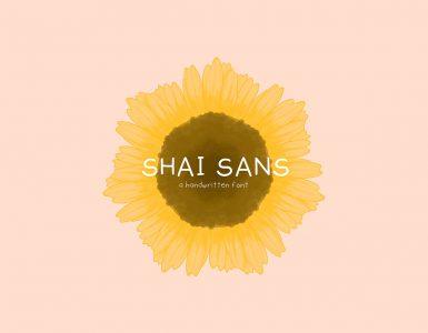 SHAI SANS Free Font - script, sans-serif