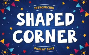 Shaped Corner Free Font - decorative