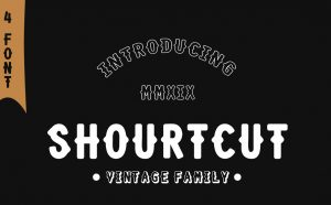 Shourtcut Free Font - decorative