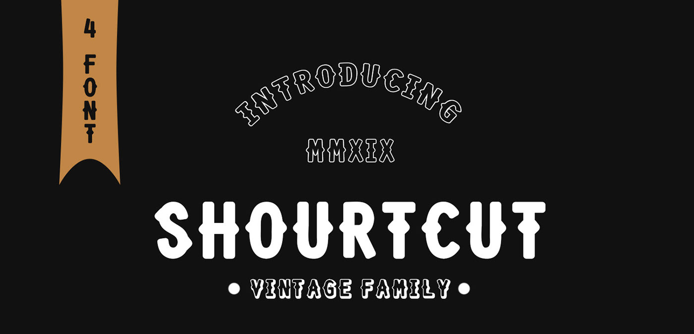 Shourtcut Free Font - decorative-display