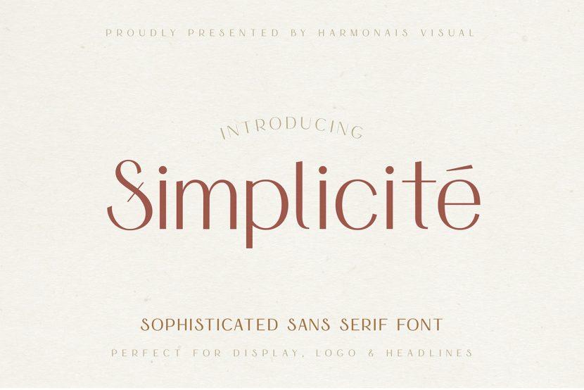 Simplicité Free Font - sans-serif