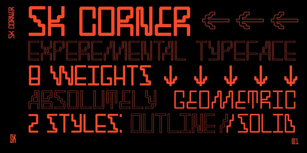 SK Cynic Free Font - decorative-display