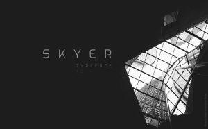 Skyer Free Font - sans-serif