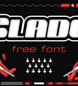 Slade Free Font - decorative-display