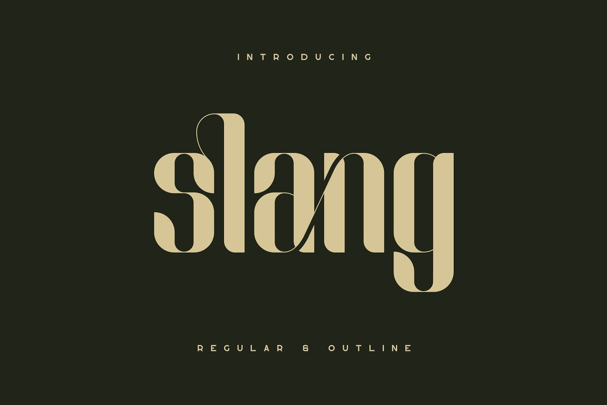 Slang Free Font - decorative-display