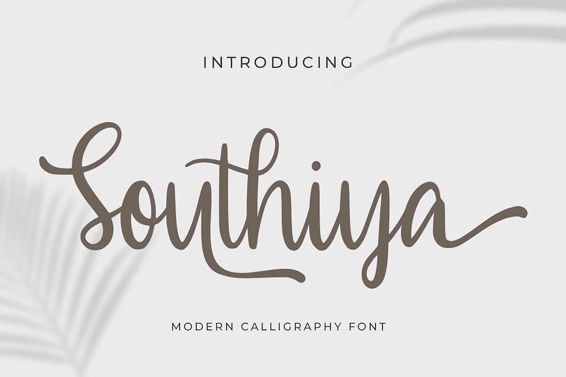 Southiya Free Font - script