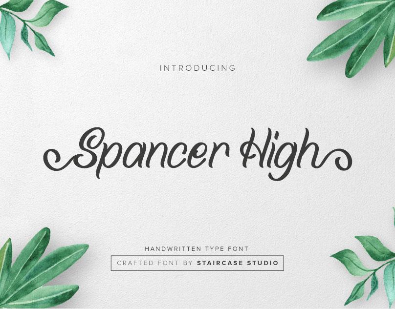 Spancer High Free Font - script
