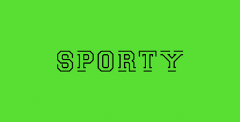 Sporty Free Font - decorative