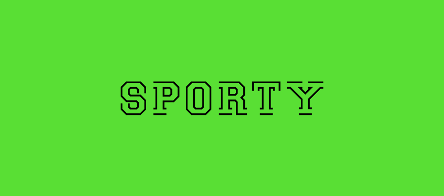 Sporty Free Font - decorative-display