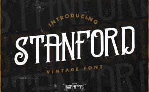 Standford Free Font - decorative