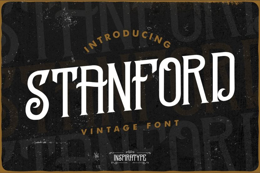 Standford Free Font - decorative