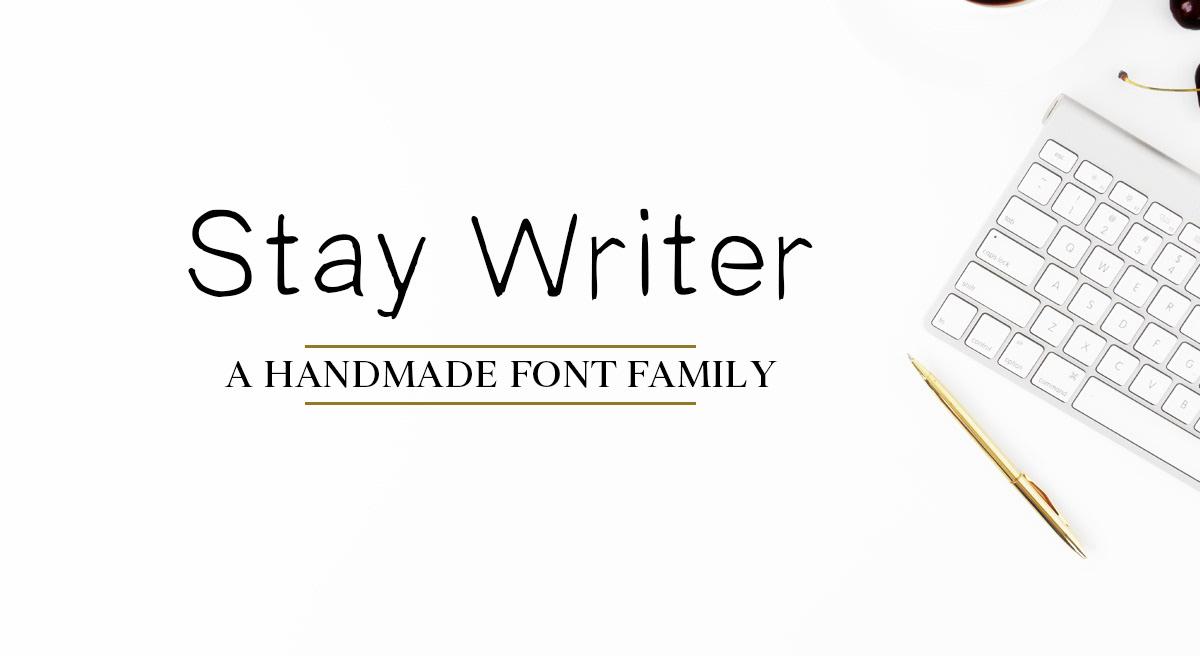 Stay Writer Free Font - script
