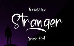 Stranger Free Brush Font - sans-serif