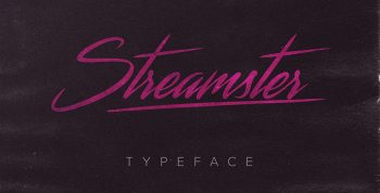 Streamster Free Typeface - script