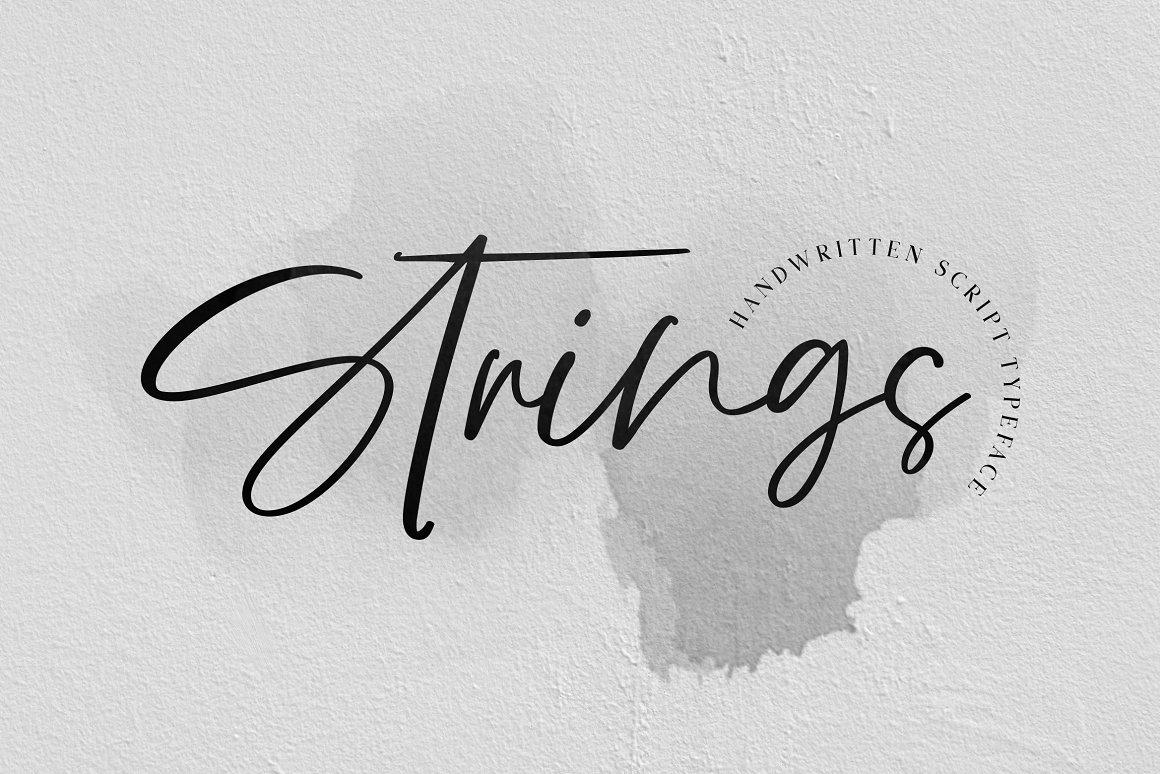 Strings Free Font - script