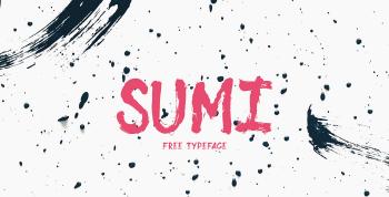 SUMI Free Brush Font - script