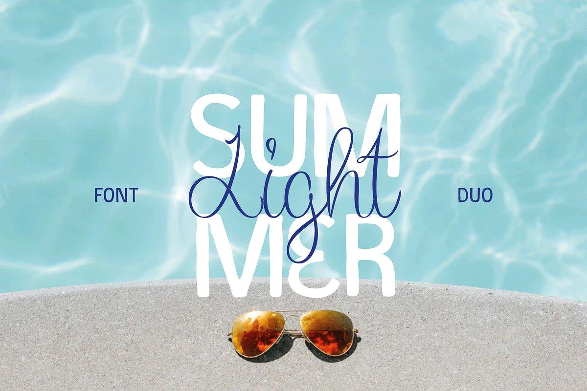 Summer Light Free Font - script