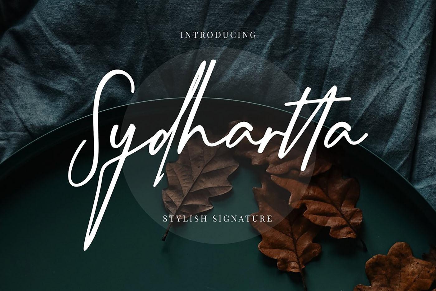 Sydhartta Free Font - script