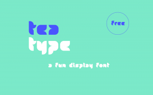 Tea Free Font - decorative