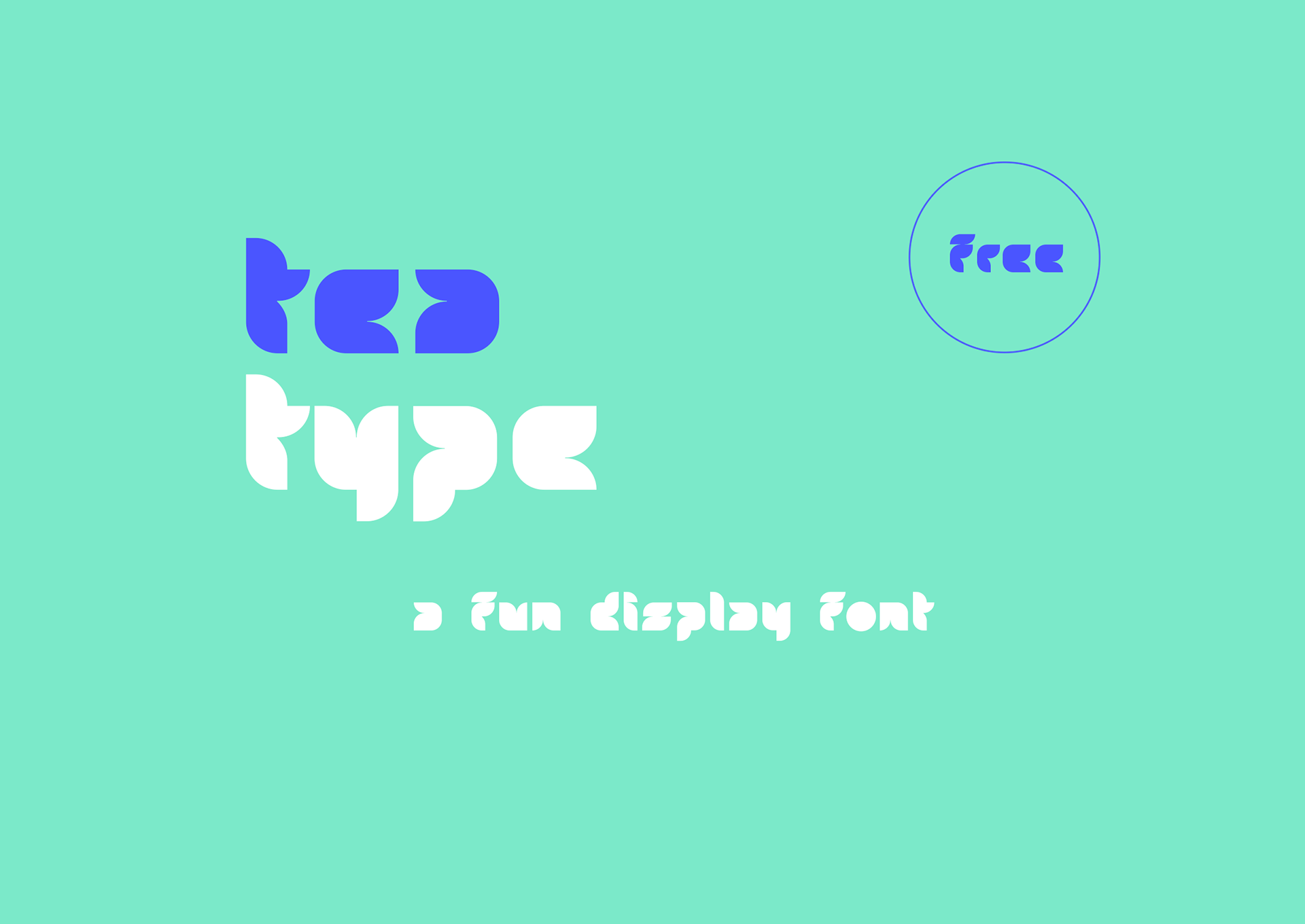 Tea Free Font - decorative-display