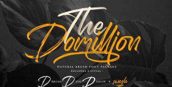 The Domillion Brush Free Font - script
