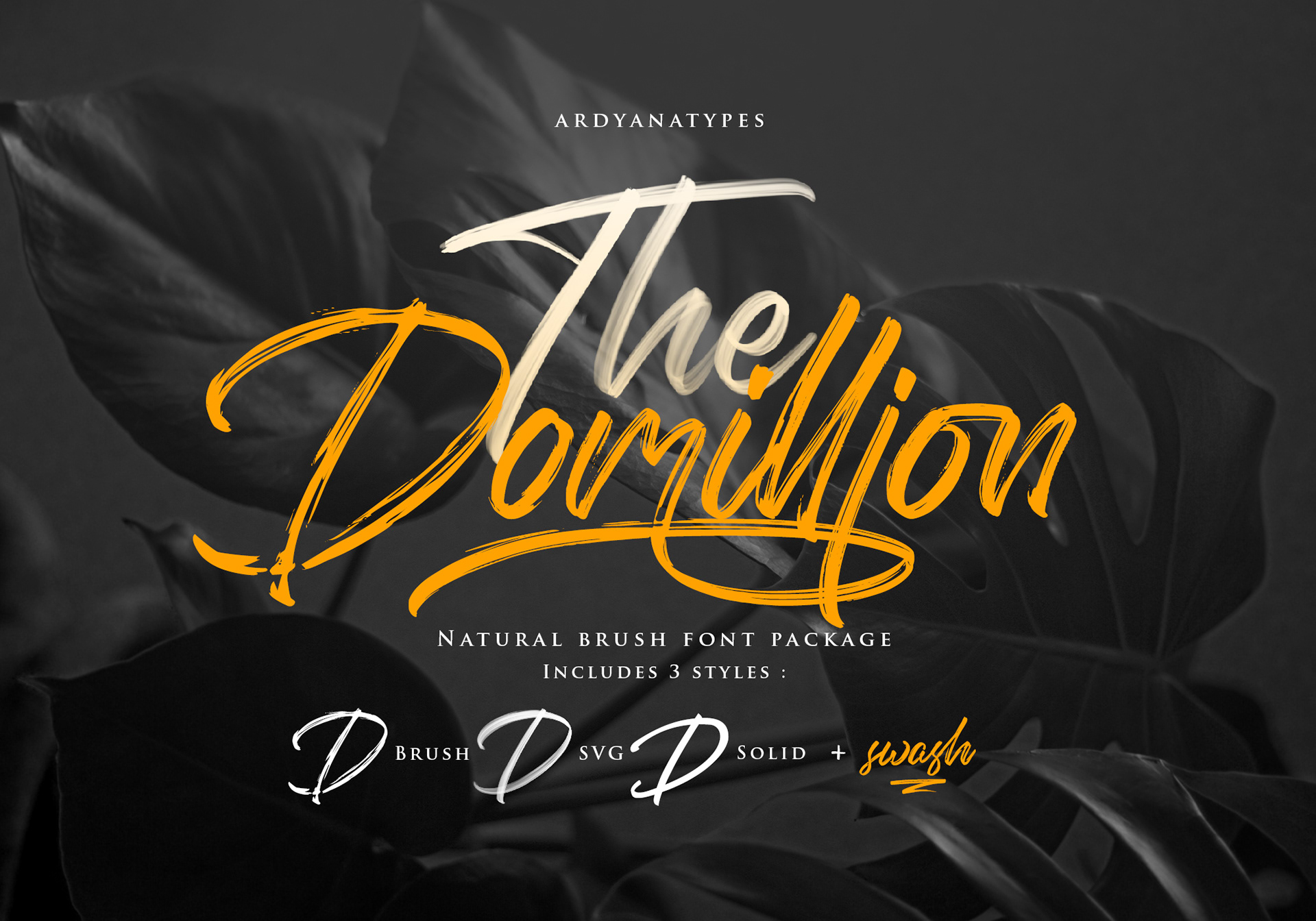 The Domillion Brush Free Font - script